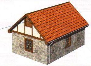 вентиляцию чердака обеспечивают зазоры, предусмотренные в зоне конька или, например, установленные в противоположных щипцовых стенах окна или жалюзи из деревянных реек