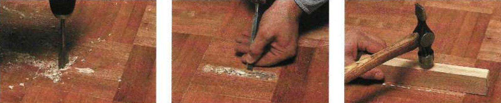Замена мозаичных дощечек