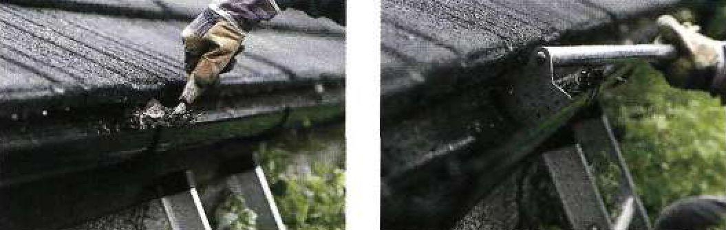 Чистка водосточных желобов