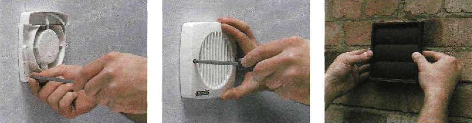 Установка стенного вытяжного вентилятора