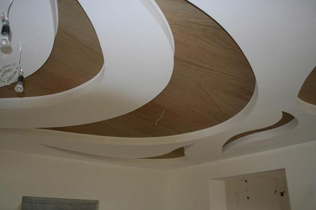 Гипсокартон. Криволинейные формы из гипсокартона.