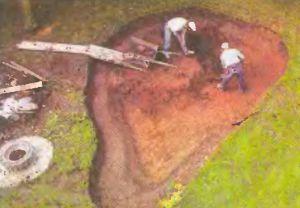 Плодородный слой почвы пошел для альпинария, а нижний грунт - на засыпку ям на участке.