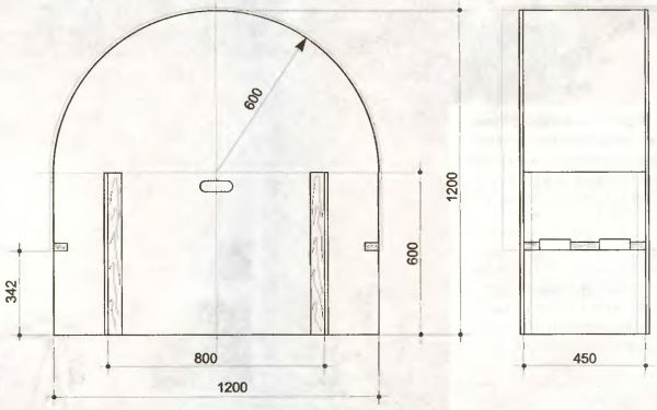 Наиболее практичным и удобным материалом для изготовления шаблона является тот же гипсокартон, который уже в наличии и легко режется. Для криволинейной формы другого радиуса требуется свой шаблон.