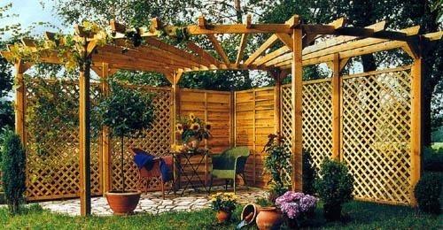 Заборы в садовом дизайне