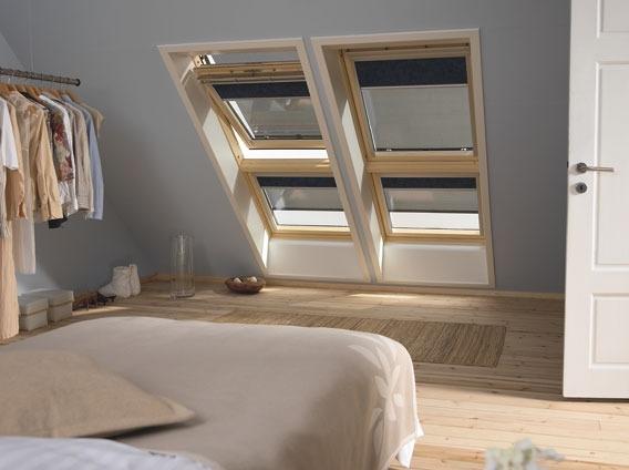 Мансардные окна с верхним открыванием по центральной оси