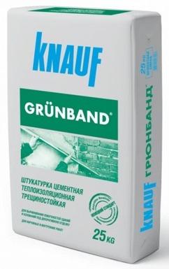 Теплоизоляционная цементная трещиностойкая штукатурка Knauf Grunband
