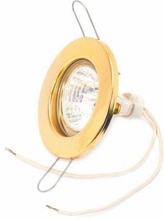 Встраиваемый потолочный светильник удерживается на месте при помощи пружинных лапок