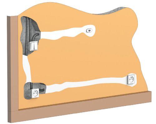 Скрытая прокладка кабеля в гофрированных трубах
