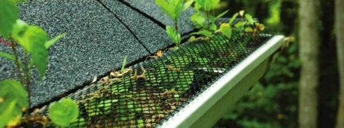 Желоб следует периодически чистить, даже если он защищен сеткой: в ячейки попадают мелкие частицы растений и семена