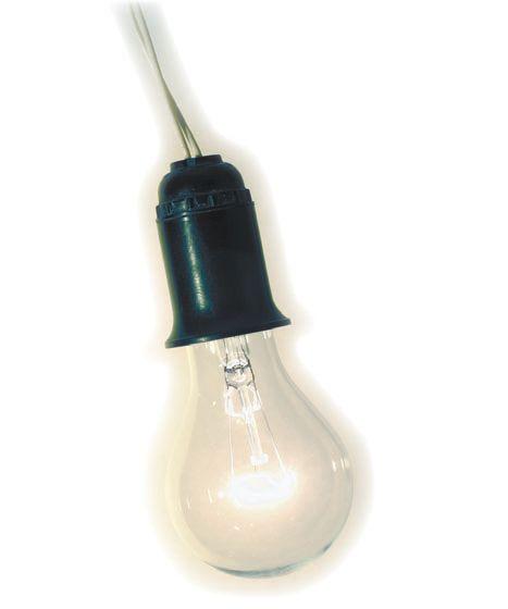 Лампа накаливания с подвесным патроном и цоколем Е27