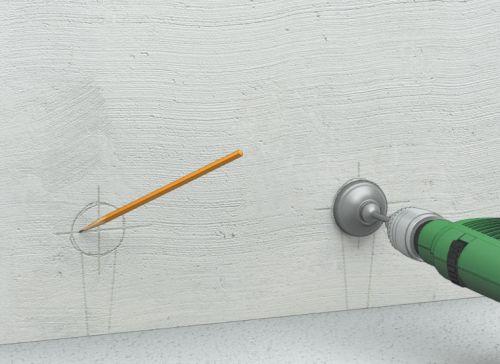 Шаг первый: разметка электрических точек (необходимо учесть толщину будущей стяжки, чтобы розетки оказались на нужном расстоянии от пола)