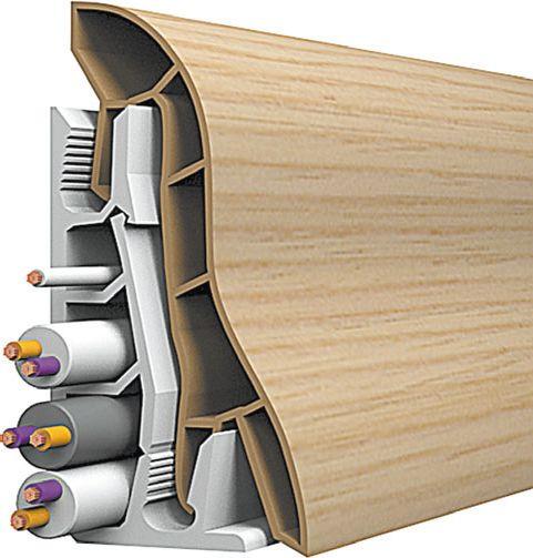 Напольный плинтус с каналами для проводов