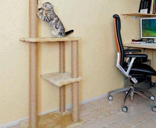 Строим когтеточку и тренажер для кошки