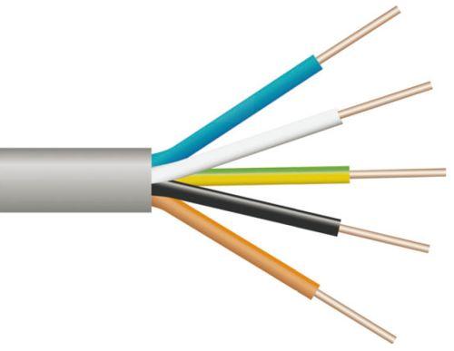 Стандартная цветовая маркировка пятижильного кабеля