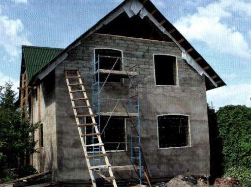 Штукатурка не потребуется – после кладки блоков стены сразу затираются