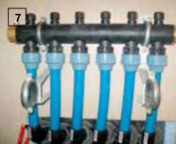 7. Геотермальный коллектор подключили к модульной установке теплового насоса