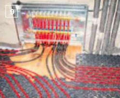 9. В доме смонтировали систему водяного напольного отопления (трубы из сшитого полиэтилена от компании Rehau, Германия)