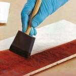 Выявление текстуры древесины с помощью красителей