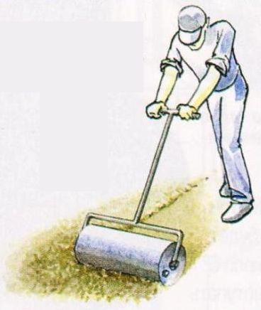 Укатывание плодородного грунта