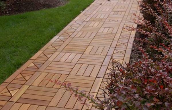 Древесно-полимерный композит (ДПК) - садовый паркет - садовая дорожка