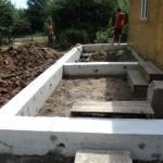 Конструкции фундаментов террас, веранд и крыльца дома
