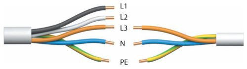 Четырехжильным или двухжильным кабель становится, если убирается заземляющий провод