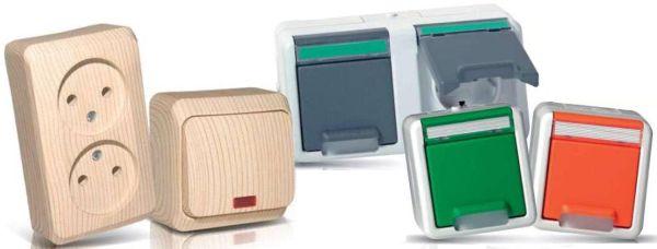 Электроустановочные изделия «Дачный этюд» и пылевлагозащищённые электроустановочные изделия