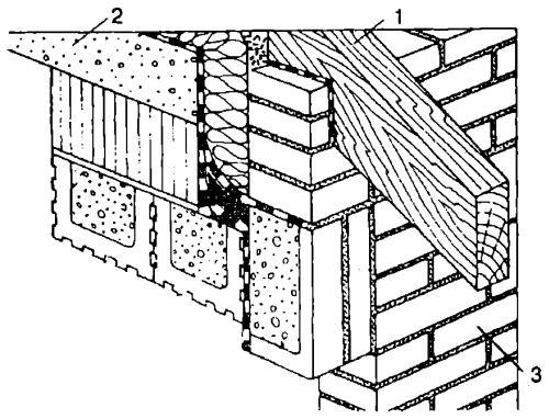 Выпуск стропильной ноги для формирования единой конструктивной схемы с верандой
