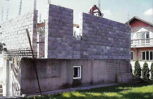 Строительство стен из несъемной опалубки