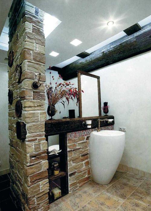 Декоративный накладной элемент на колонну, выполненный из искусственного камня