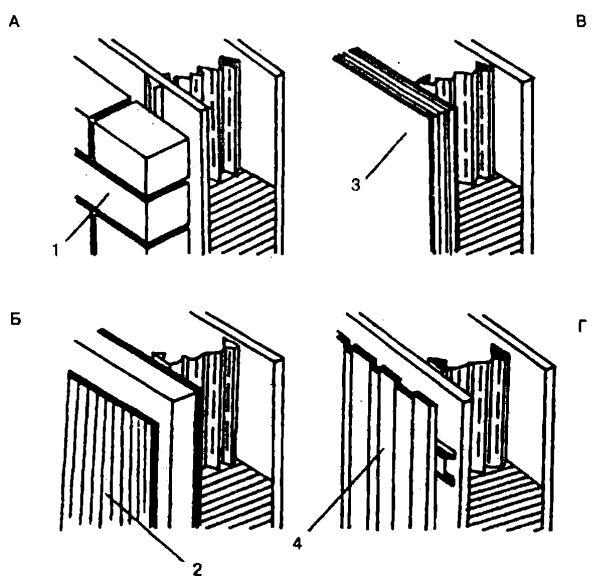 Варианты наружной отделки с конструктивными элементами ТЕРМОБЛОК