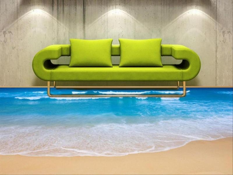 Наливной декоративный 3D пол