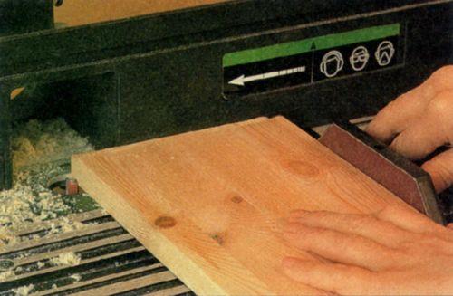 Выбирание фальца на кромке доски