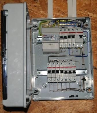 Монтаж домашнего электрощитка