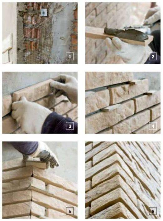 Облицовка искусственным камнем оштукатуренного фасада