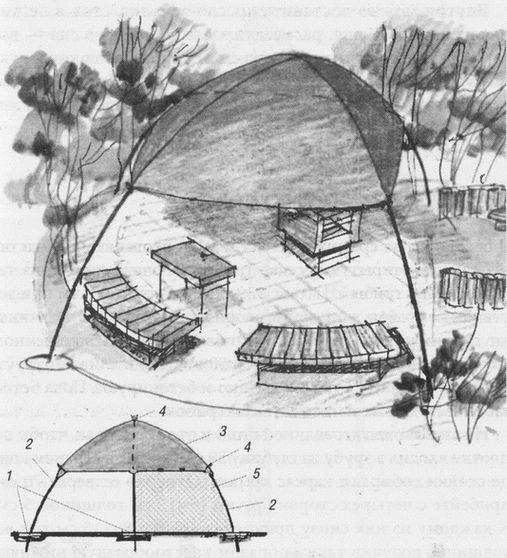 Беседка-шатер