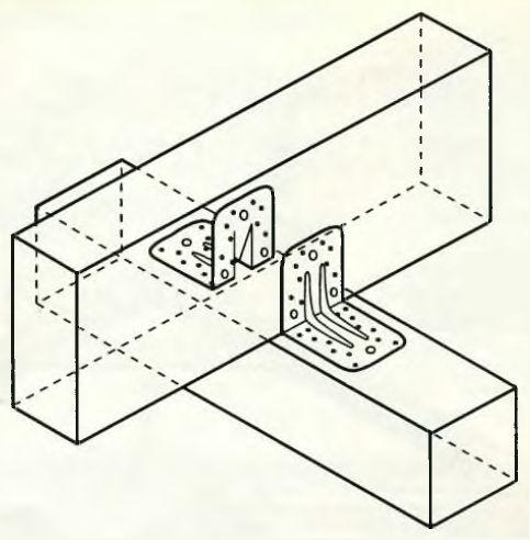 Пример использования крепежных уголков