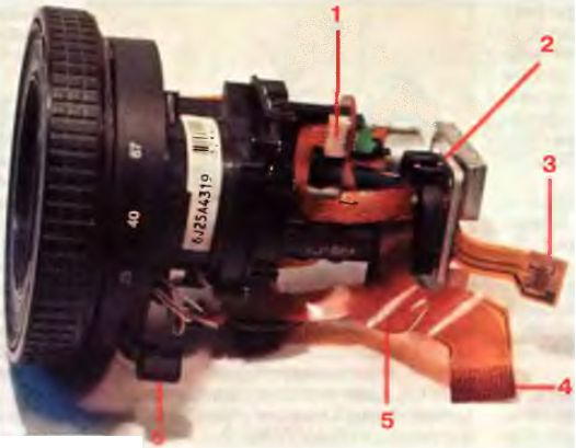 Внешний вид секции объектива моделей NV-MS5/M9500/AG-DP200