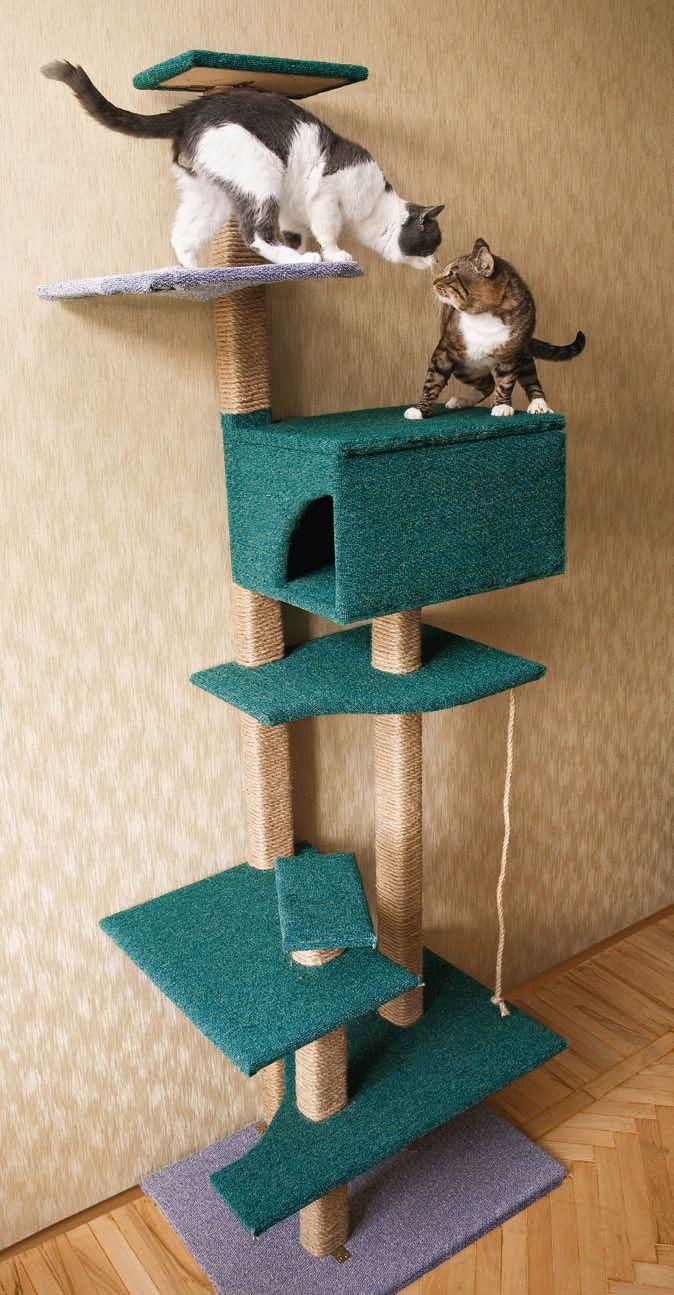 Как сделать домик для кошки с когтеточкой