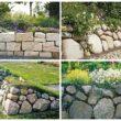 Каменный забор с цветами