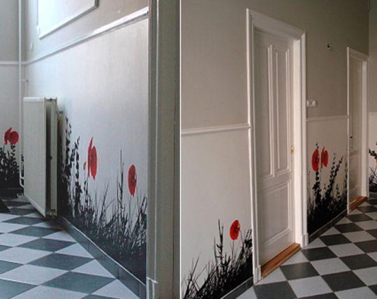 Краска вместо обоев или художественная роспись стен