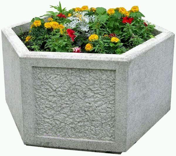 Цветочница из бетона