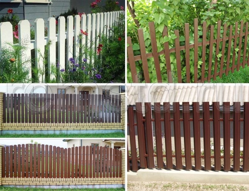 Забор в палисаднике своими руками