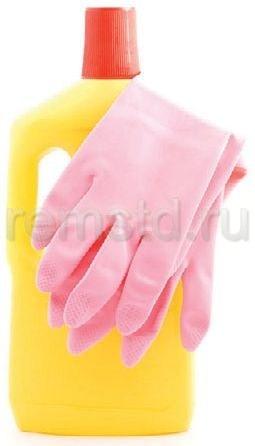 При использовании химических средств не забудьте надеть перчатки