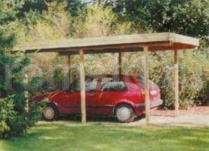 Деревянный навес для машины своими руками