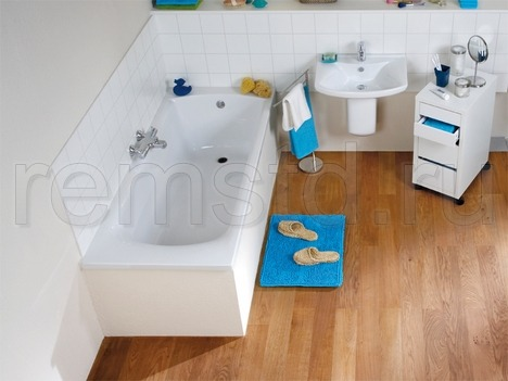 Укладка деревянного пола в ванной