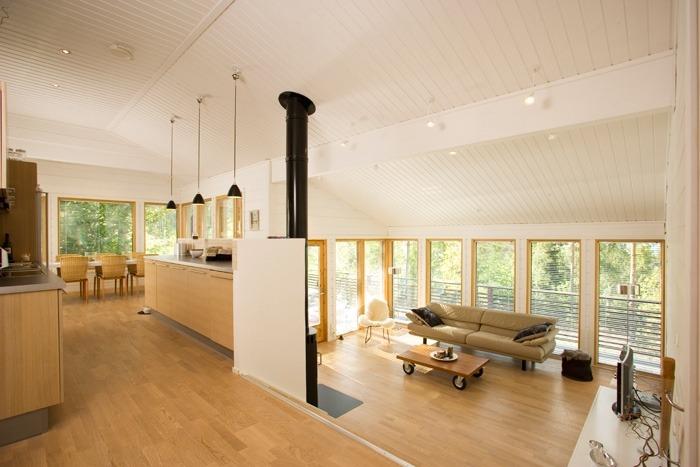 Деревянный сборный финский дом