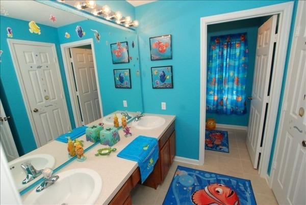 Дизайн и интерьер ванной комнаты для детей