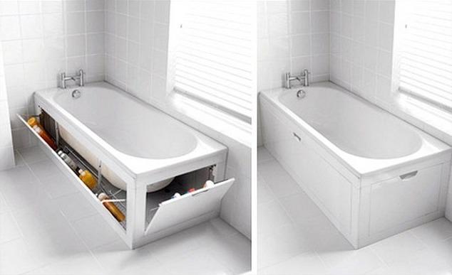 Как сделать под ванной нишу
