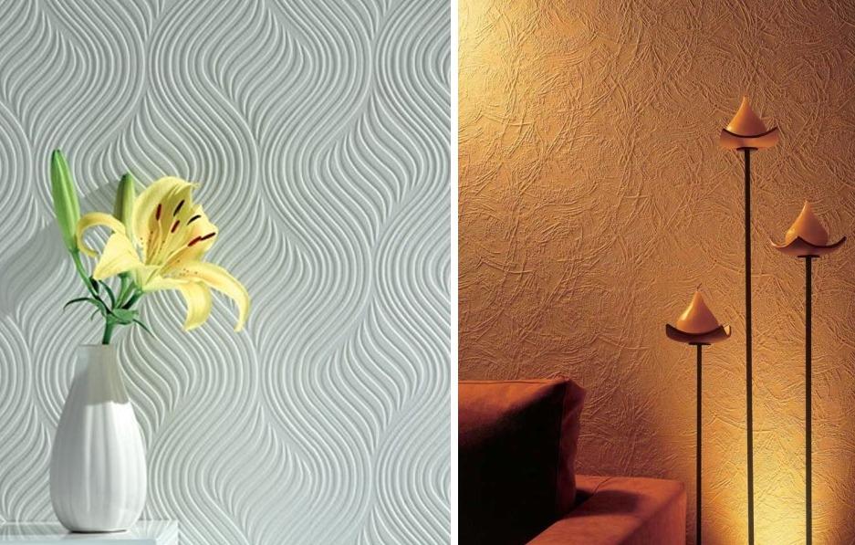 Рельефные или структурные обои под покраску